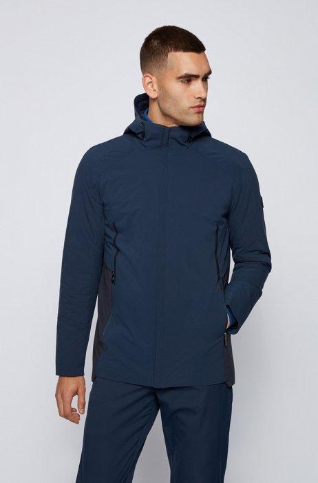 Waterafstotende regular-fit jas met lichte vulling, Donkerblauw