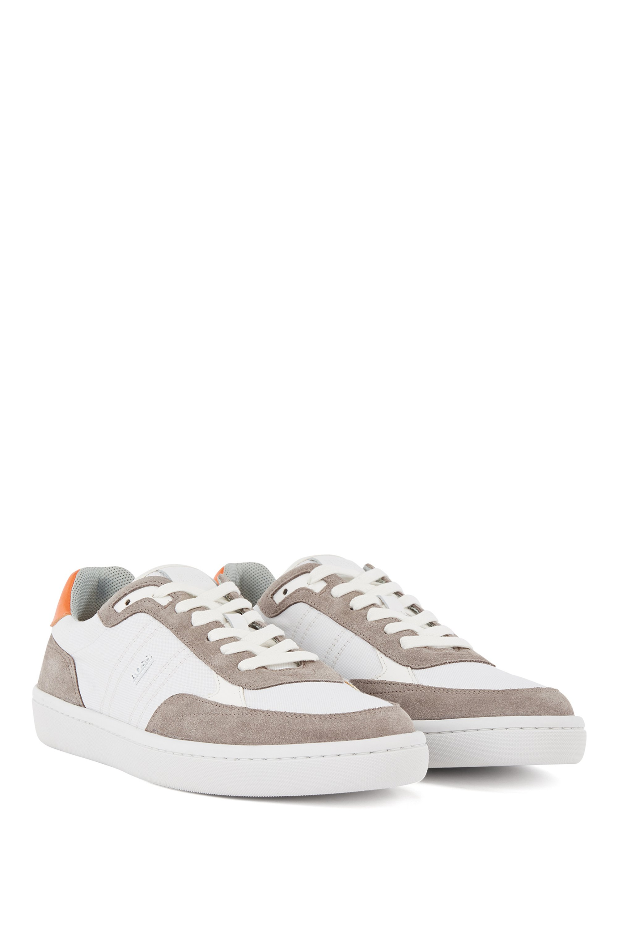 Cupsole trainers in SEAQUAL™ fabric with suede trims