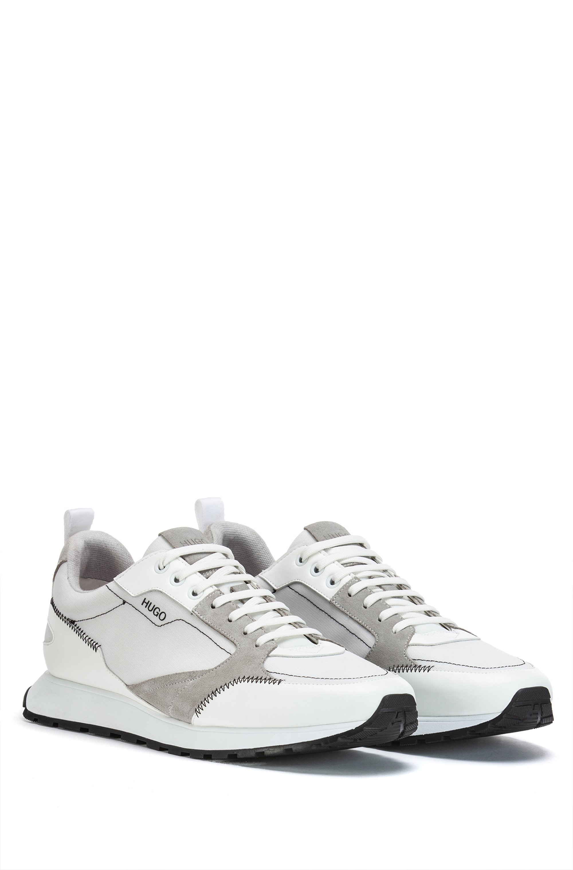 Retro-inspired trainers with mesh and suede