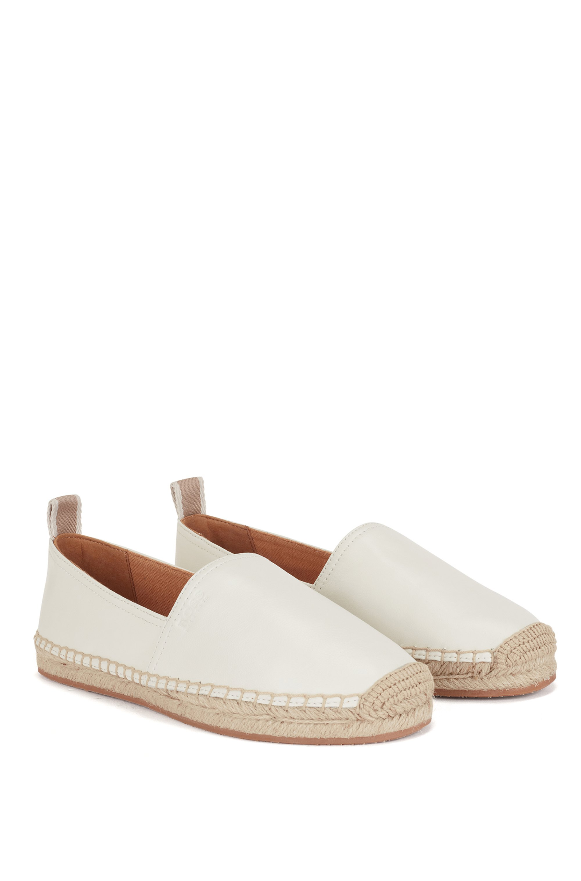 Espadrilles in nappa leather with embossed logo