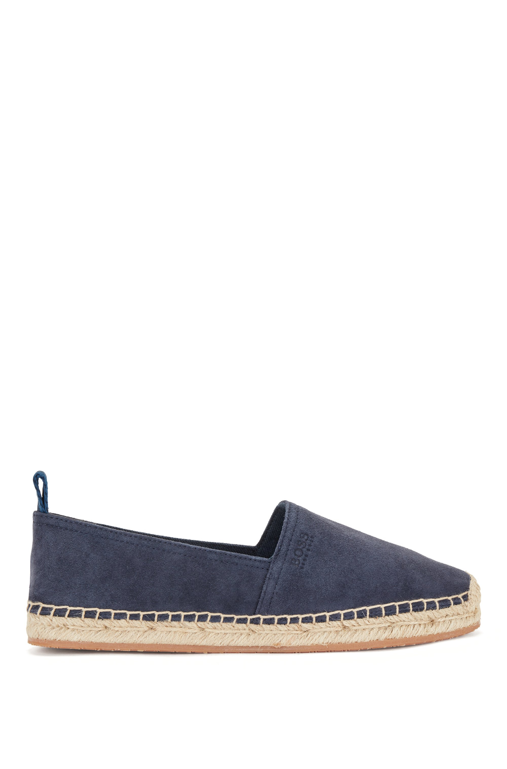 Suede espadrilles with rope-lined sole, Dark Blue