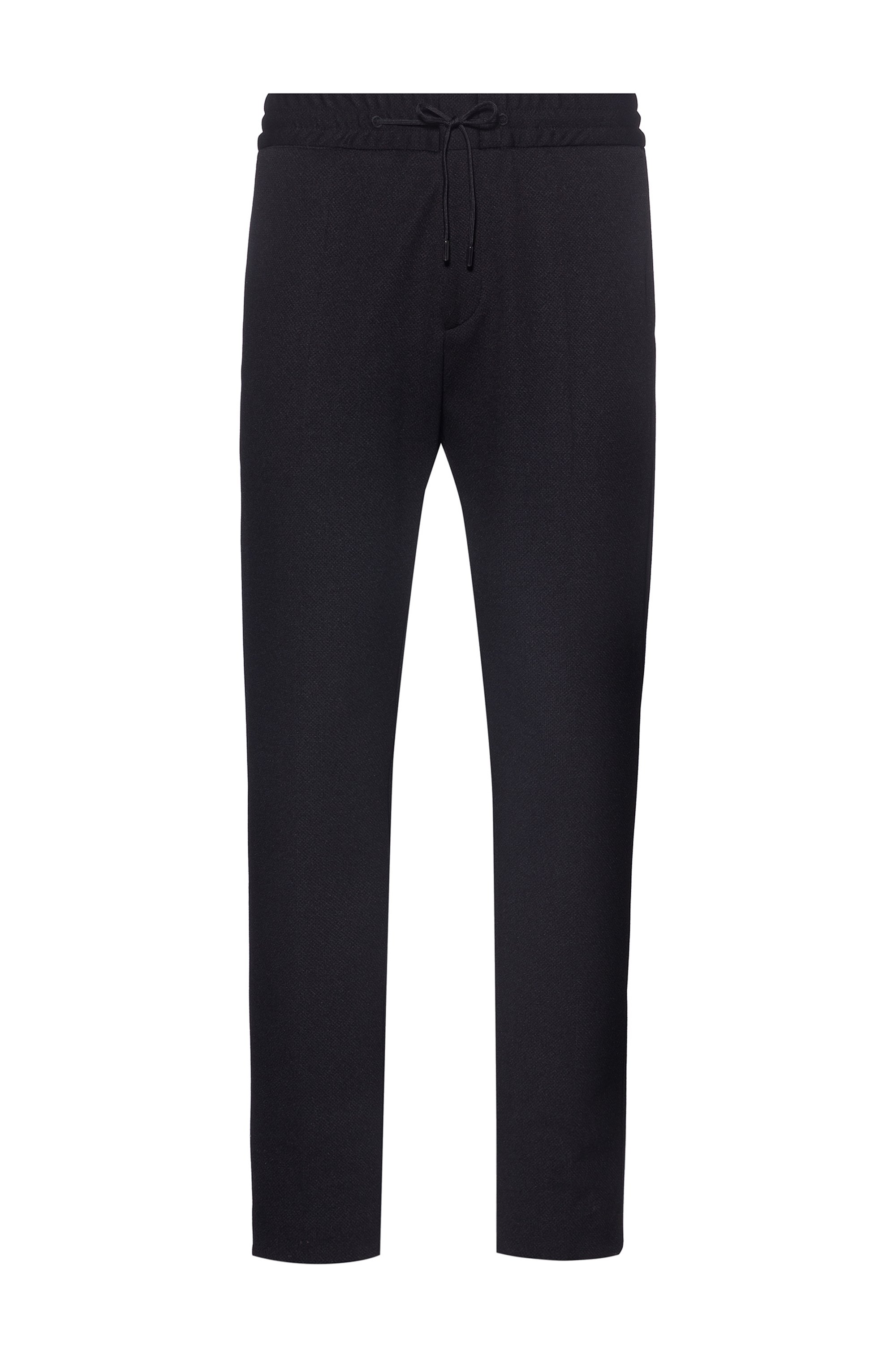 Extra-slim-fit trousers in structured stretch fabric, Black