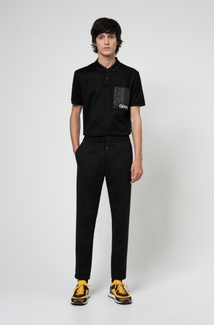 Extra-slim-fit trousers in structured stretch fabric