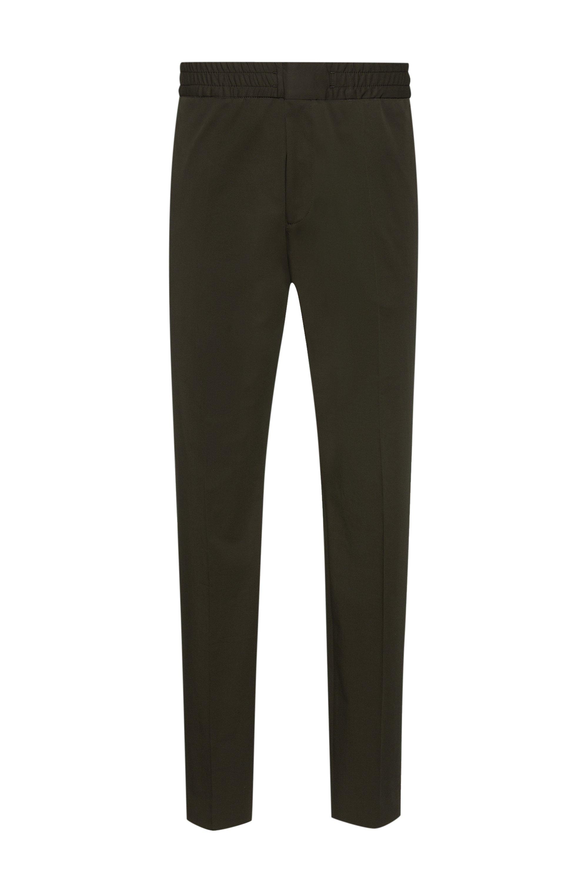 Extra slim-fit broek van performancemateriaal met stretch, Donkergroen