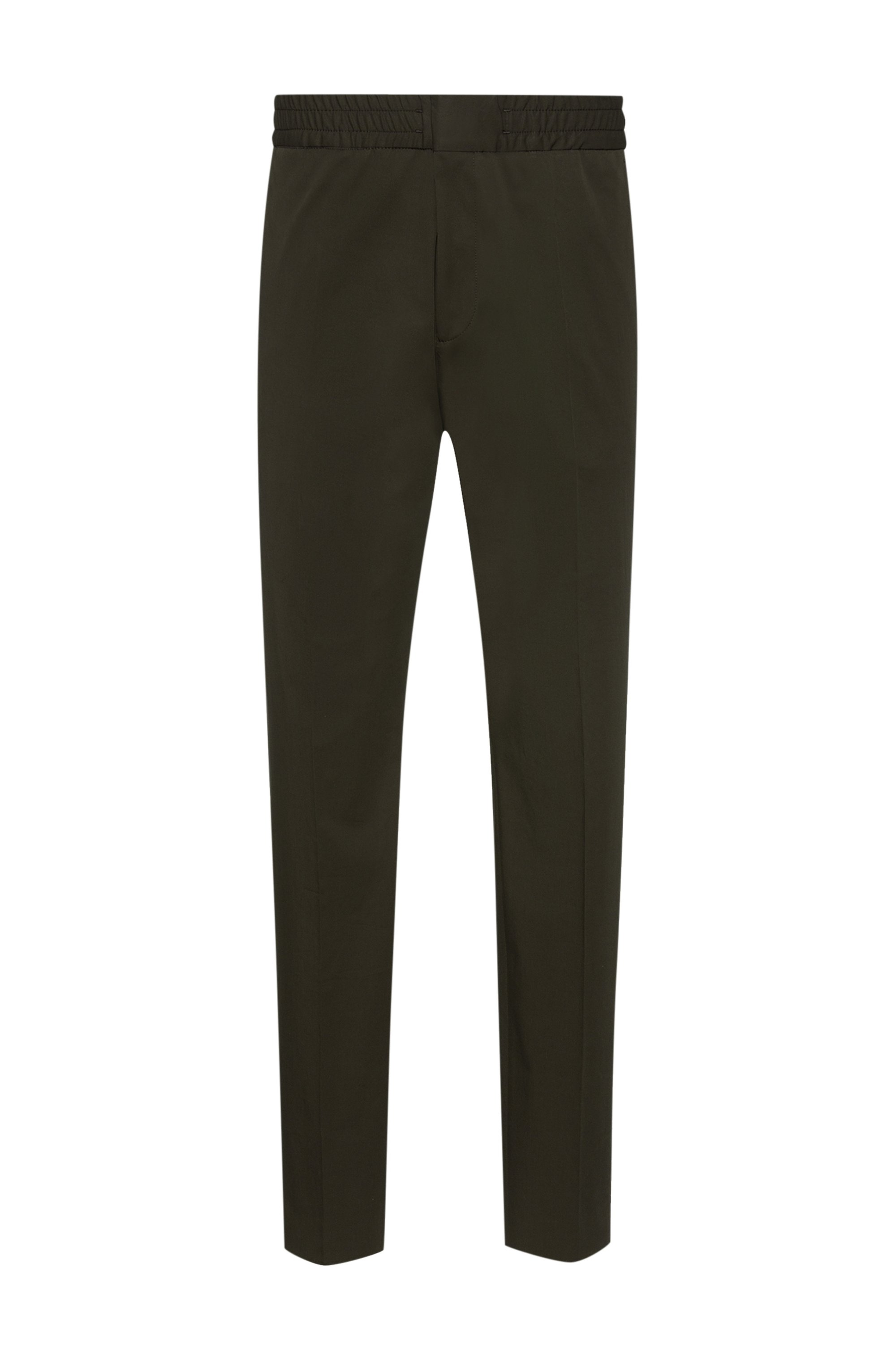 Pantalon Extra Slim Fit en tissu stretch performant, Vert sombre