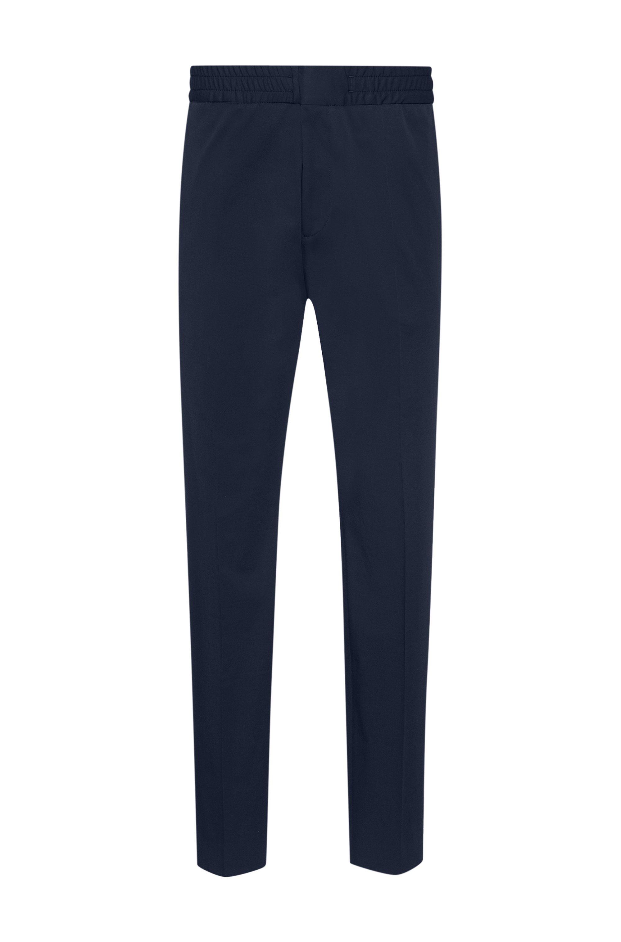 Extra slim-fit broek van performancemateriaal met stretch, Donkerblauw