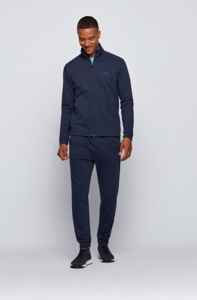 Zip-through logo sweatshirt with phone pocket