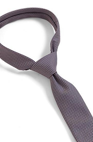 再生面料微图案抗皱领带,  690_Open Pink