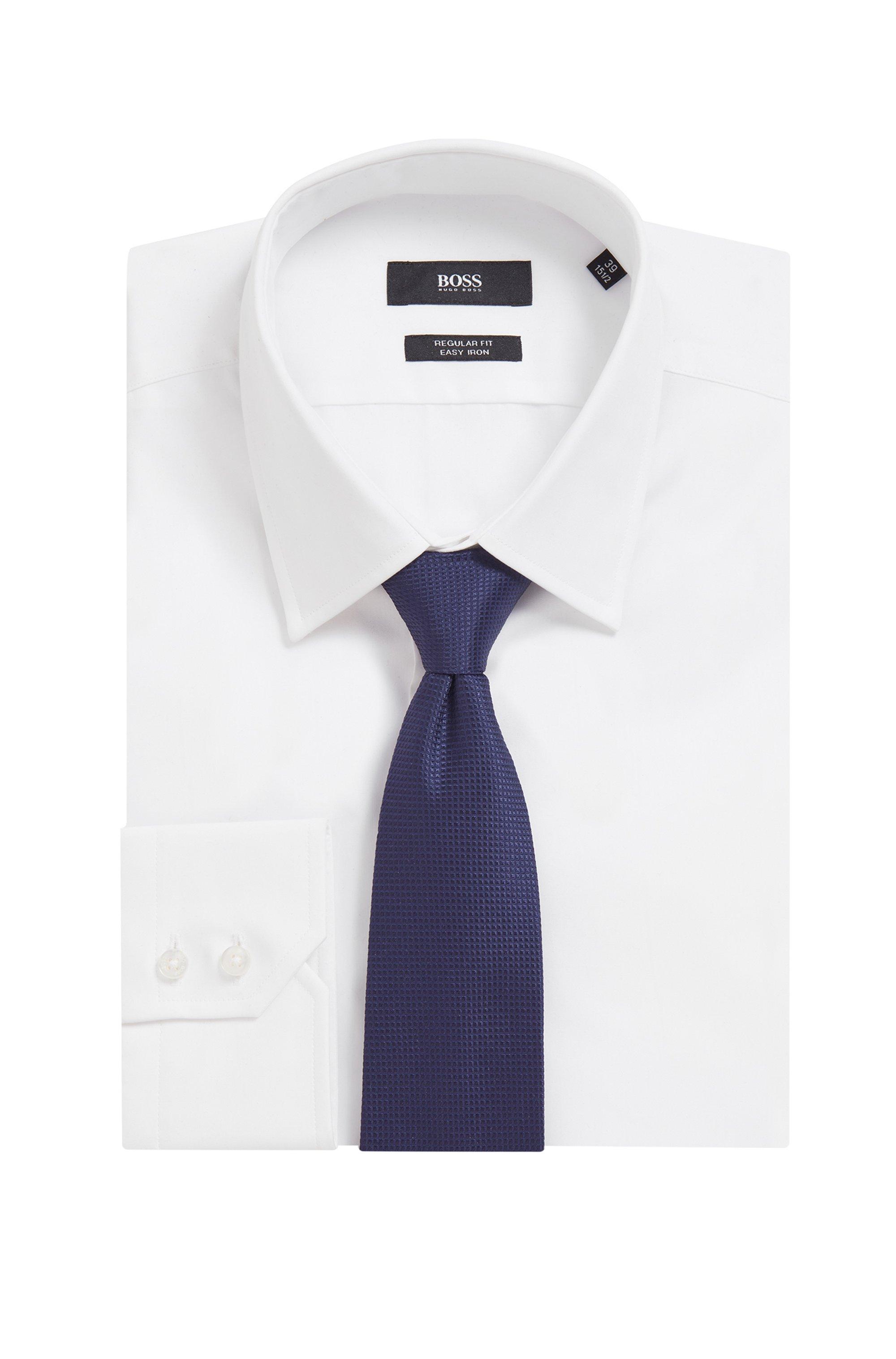 Silk-jacquard tie with tonal micro pattern