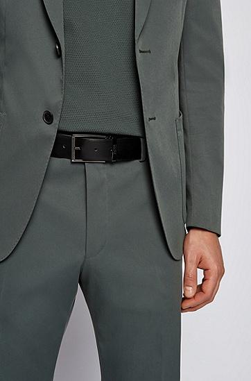 礼盒装意大利皮革双面腰带,  001_Black