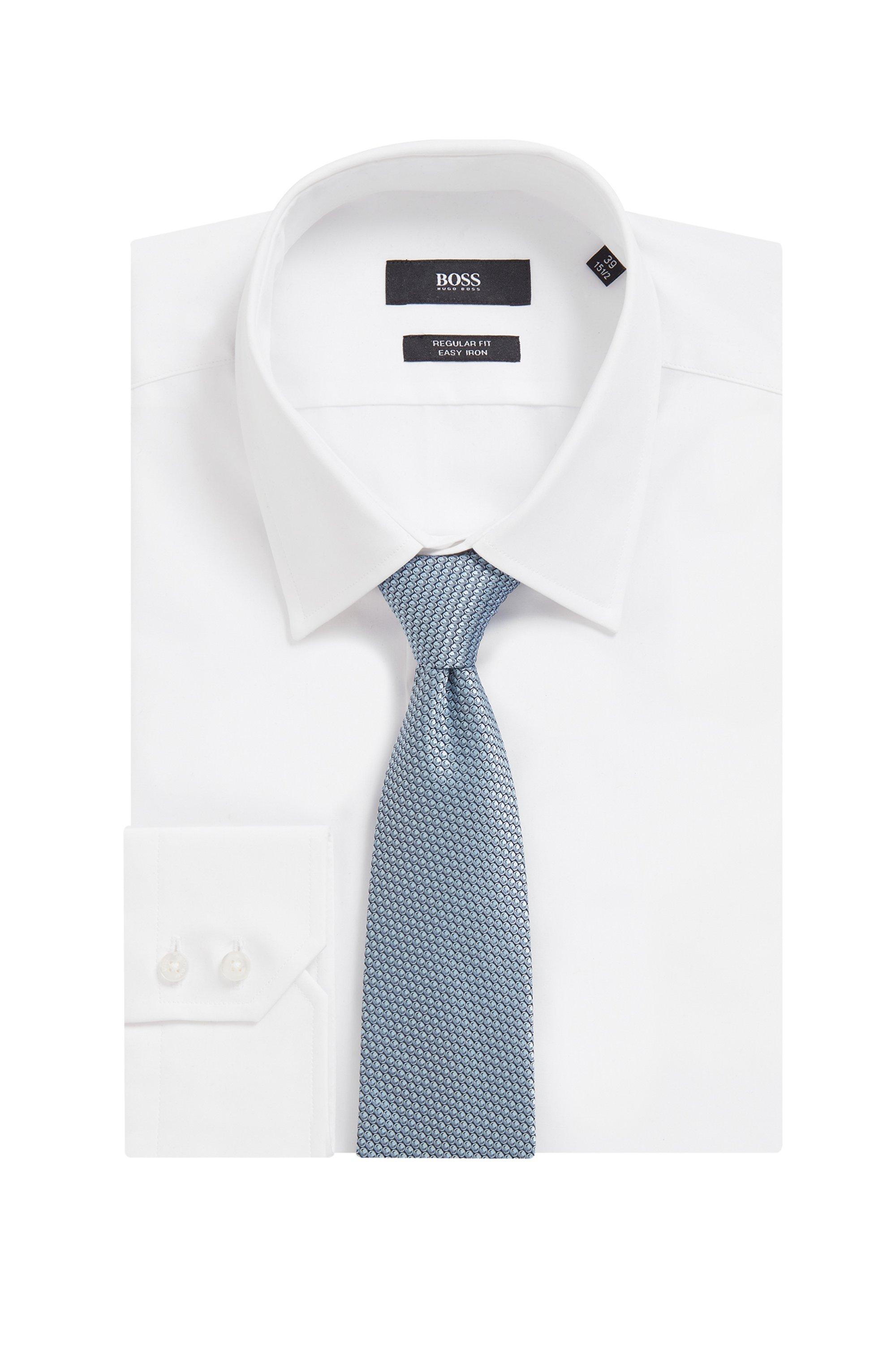 In Italië vervaardigde stropdas van zijde met dessin in jacquard