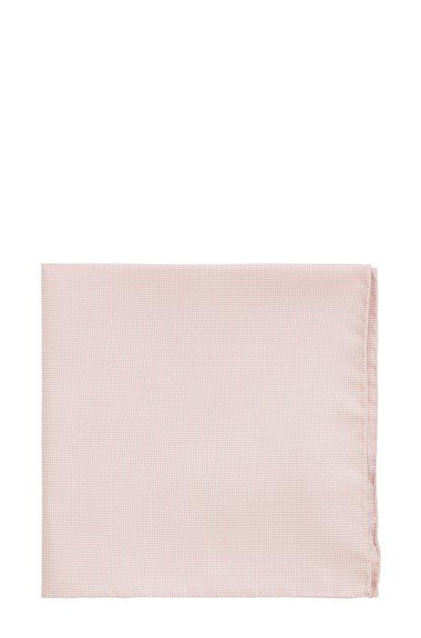 Pochet in een jacquard van zijde met microdessin, Lichtroze
