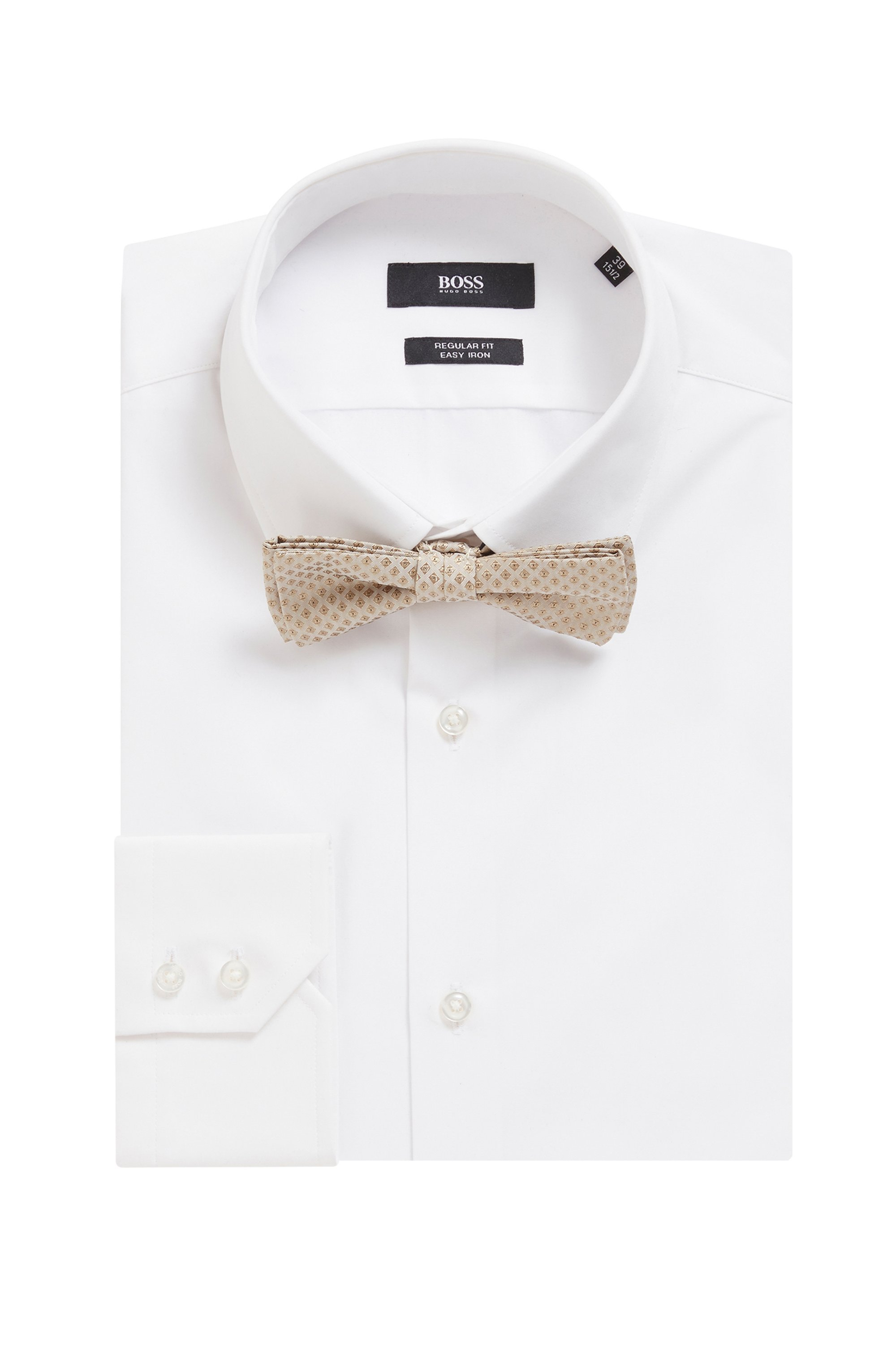 Micro-patterned bow tie in silk jacquard