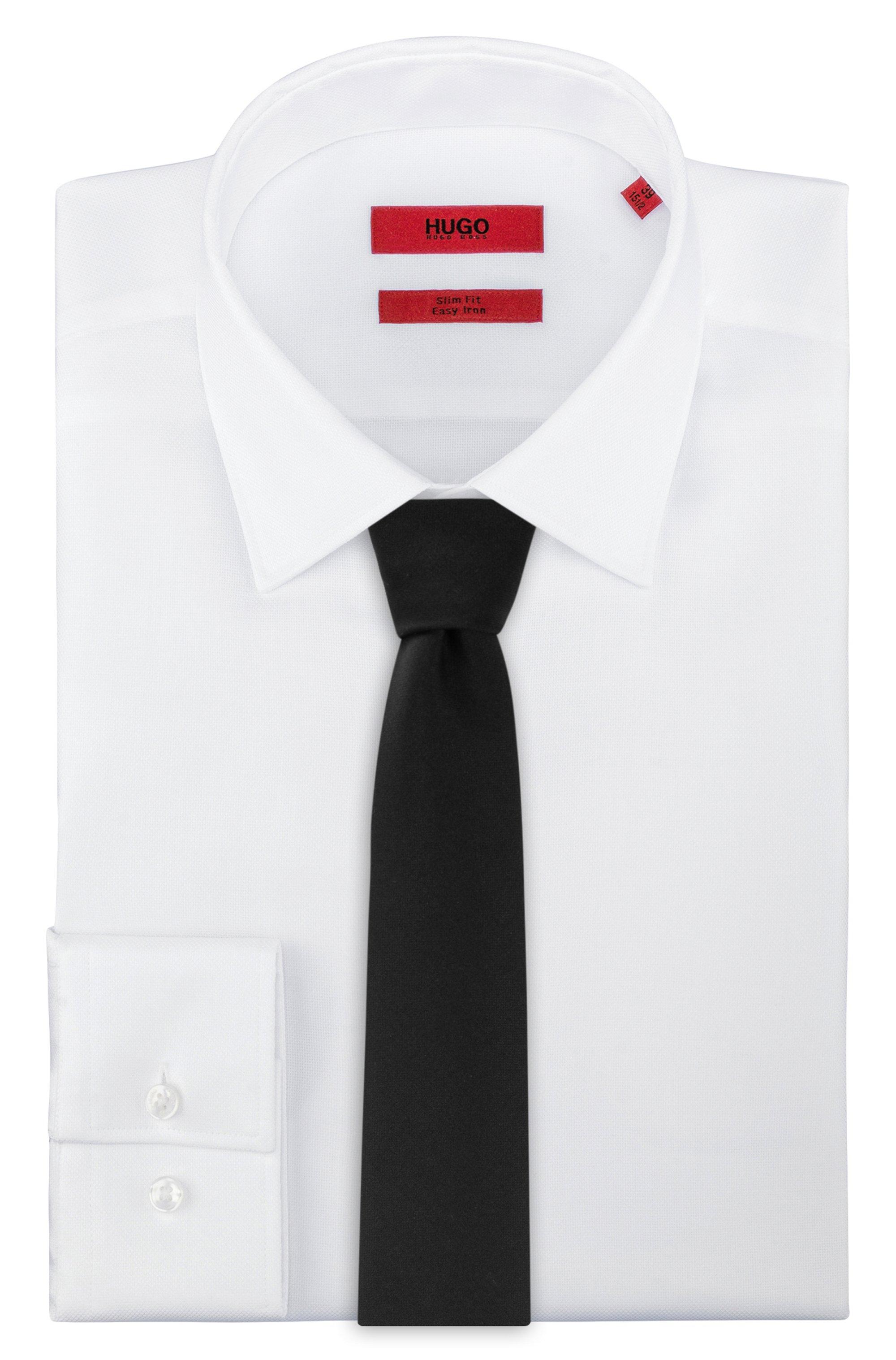 Virgin-wool tie with solid weave
