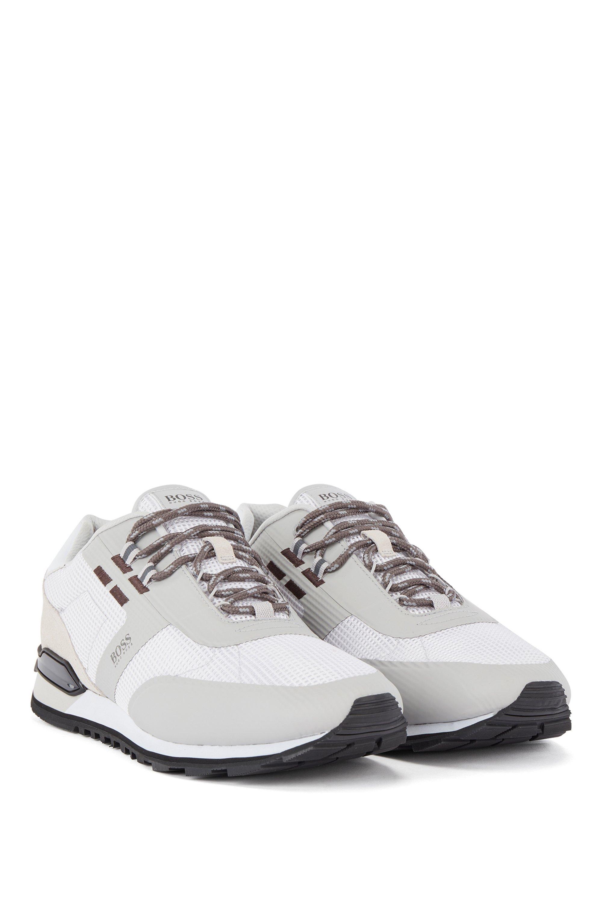 Hybrid-Sneakers aus Nylon, Mesh und Leder