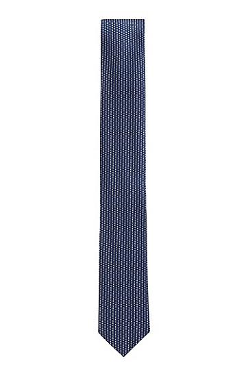 意大利制造真丝提花防水领带,  401_Dark Blue