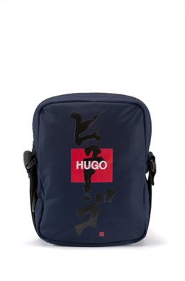 Reporter bag with logo and Japanese ideogram, Dark Blue
