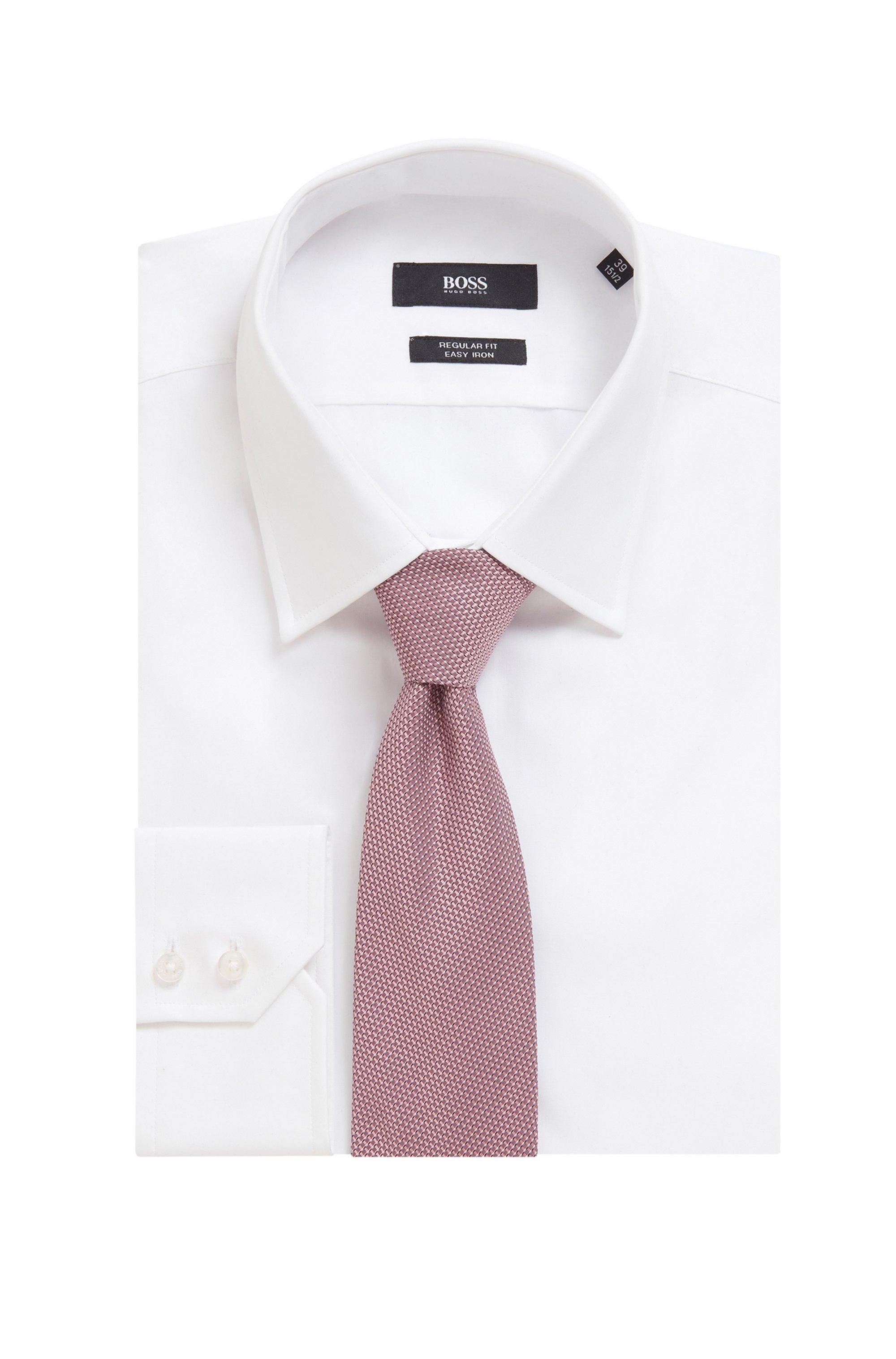 In Italië vervaardigde zijden stropdas met microdessin in jacquard