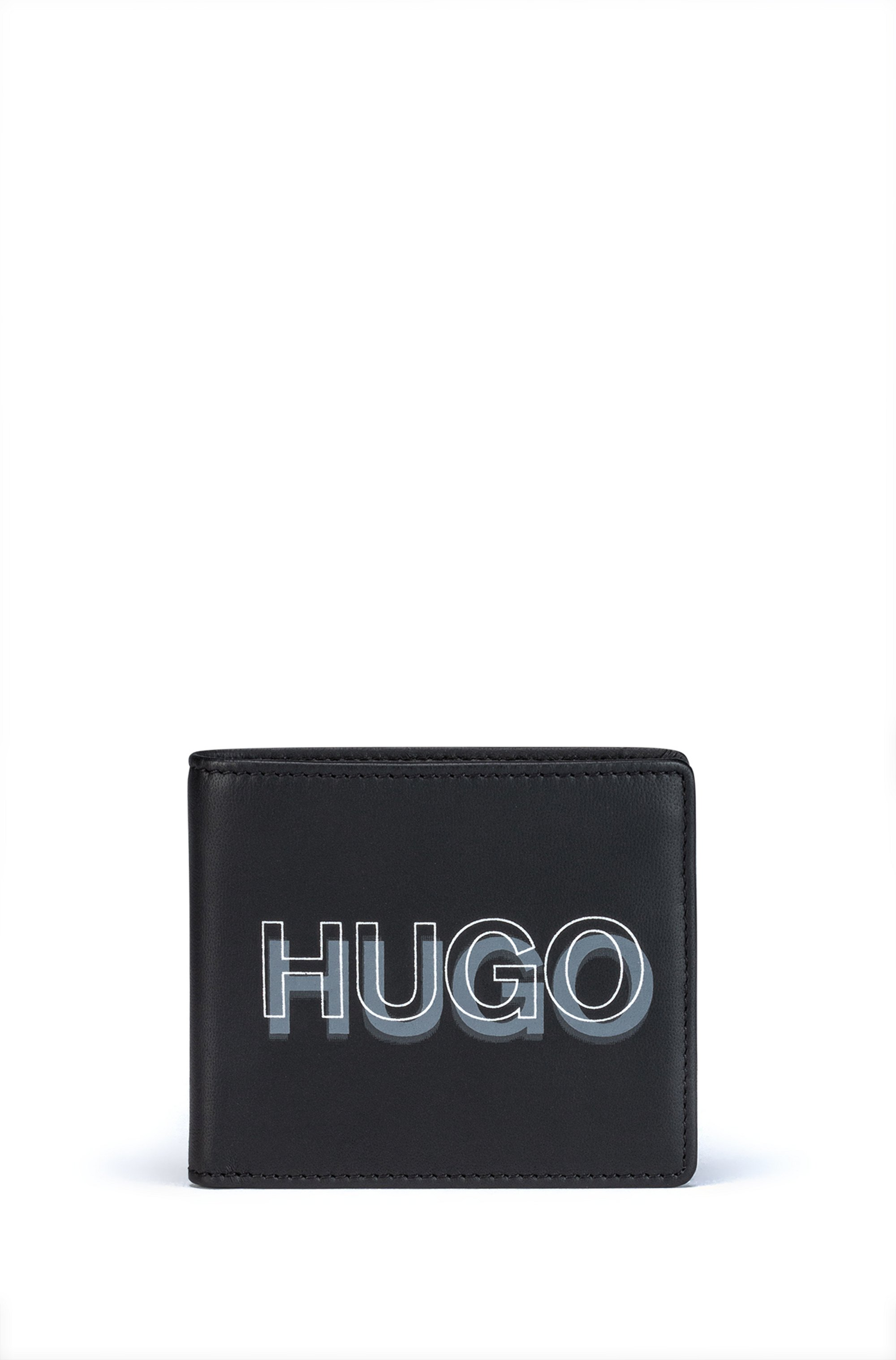 Gift-boxed logo wallet and card holder in leather