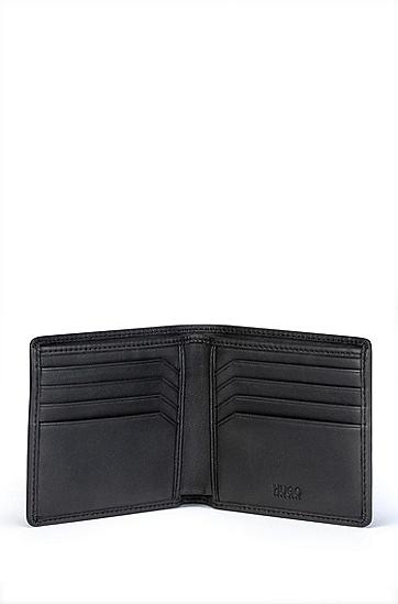 徽标图案皮革钱包卡包礼盒套装,  Black