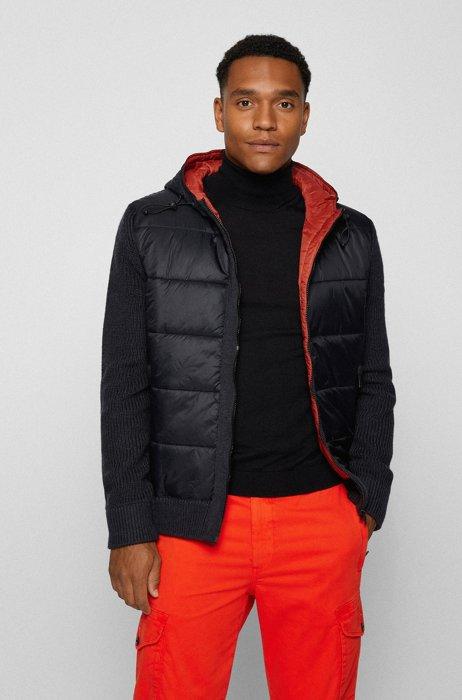 Regular-Fit Jacke mit Füllung aus PrimaLoft®, Schwarz