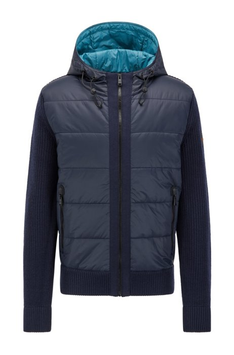 Regular-fit jacket with PrimaLoft® padding, Dark Blue