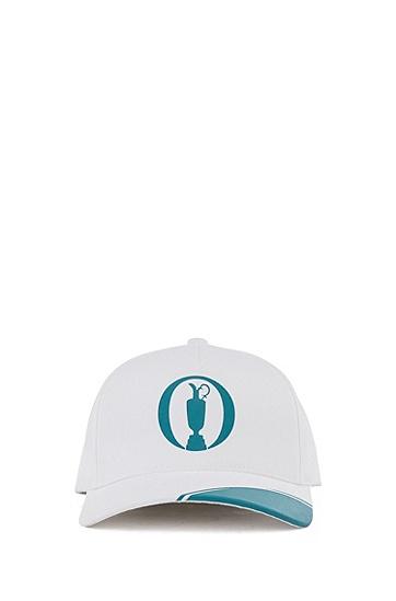 系列主题艺术图案装饰棉质混纺鸭舌帽,  100_White