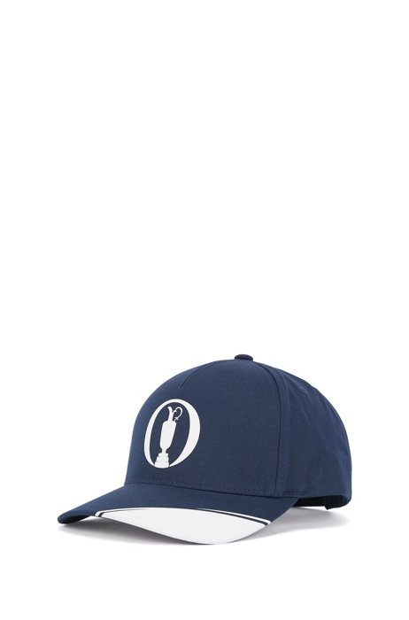 Cotton-blend cap with collection-themed artwork, Dark Blue