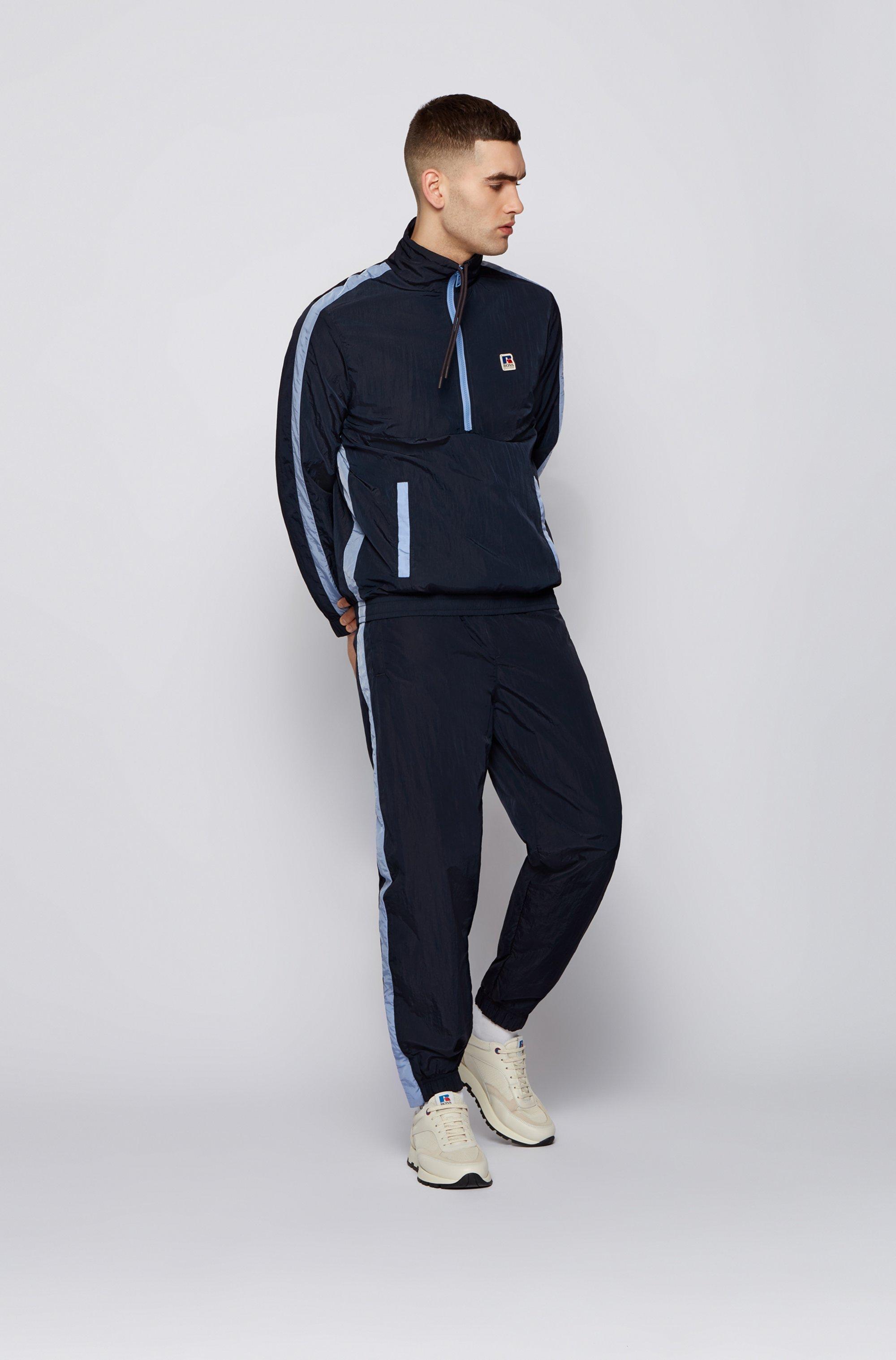 Zip-neck sweatshirt with contrast trims and exclusive logo