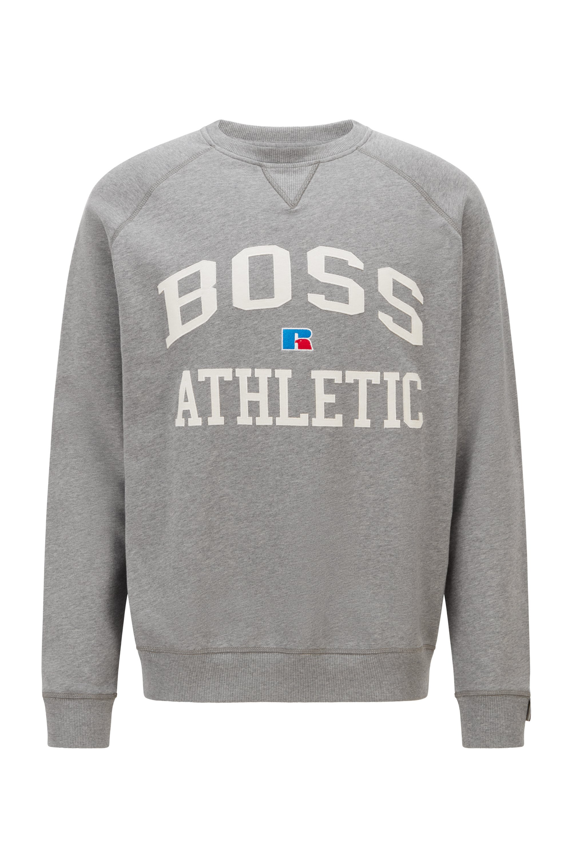 Relaxed-Fit Sweatshirt aus Bio-Baumwolle mit exklusivem Logo, Grau