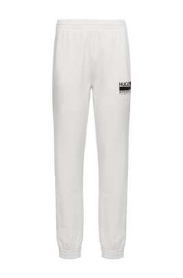 Relaxed-fit tracksuit bottoms in Recot2® French terry cotton, White