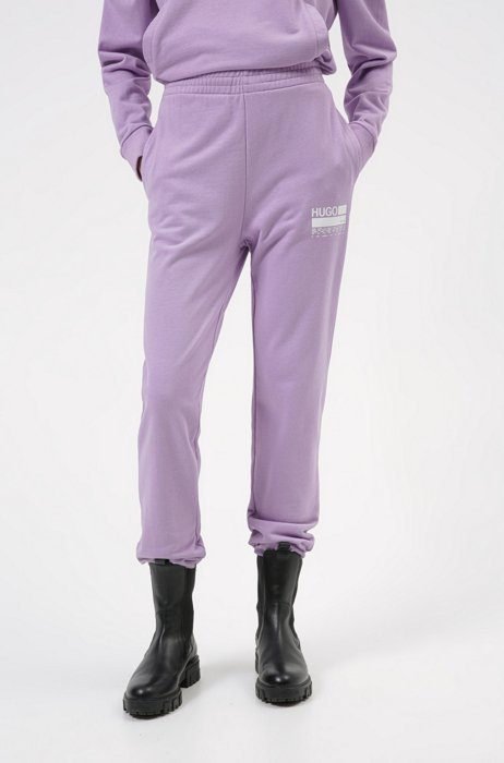 Relaxed-fit tracksuit bottoms in Recot2® French terry cotton, Purple