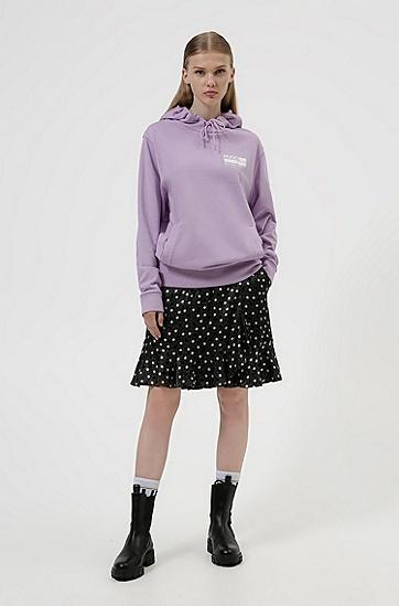 饰有宣言印花的 Recot²® 棉质连帽运动衫,  521_Bright Purple