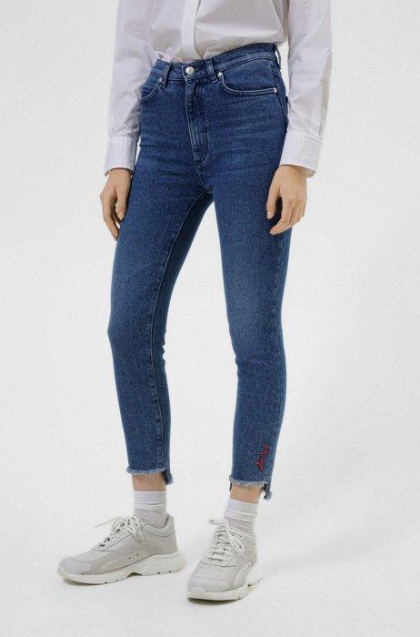 LOU skinny-fit jeans in blue stretch denim, Blue
