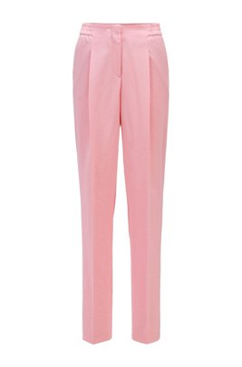 Regular-fit trousers with a wide leg, Pink