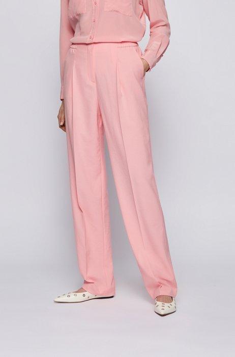 Regular-fit broek met wijde pijpen, Pink