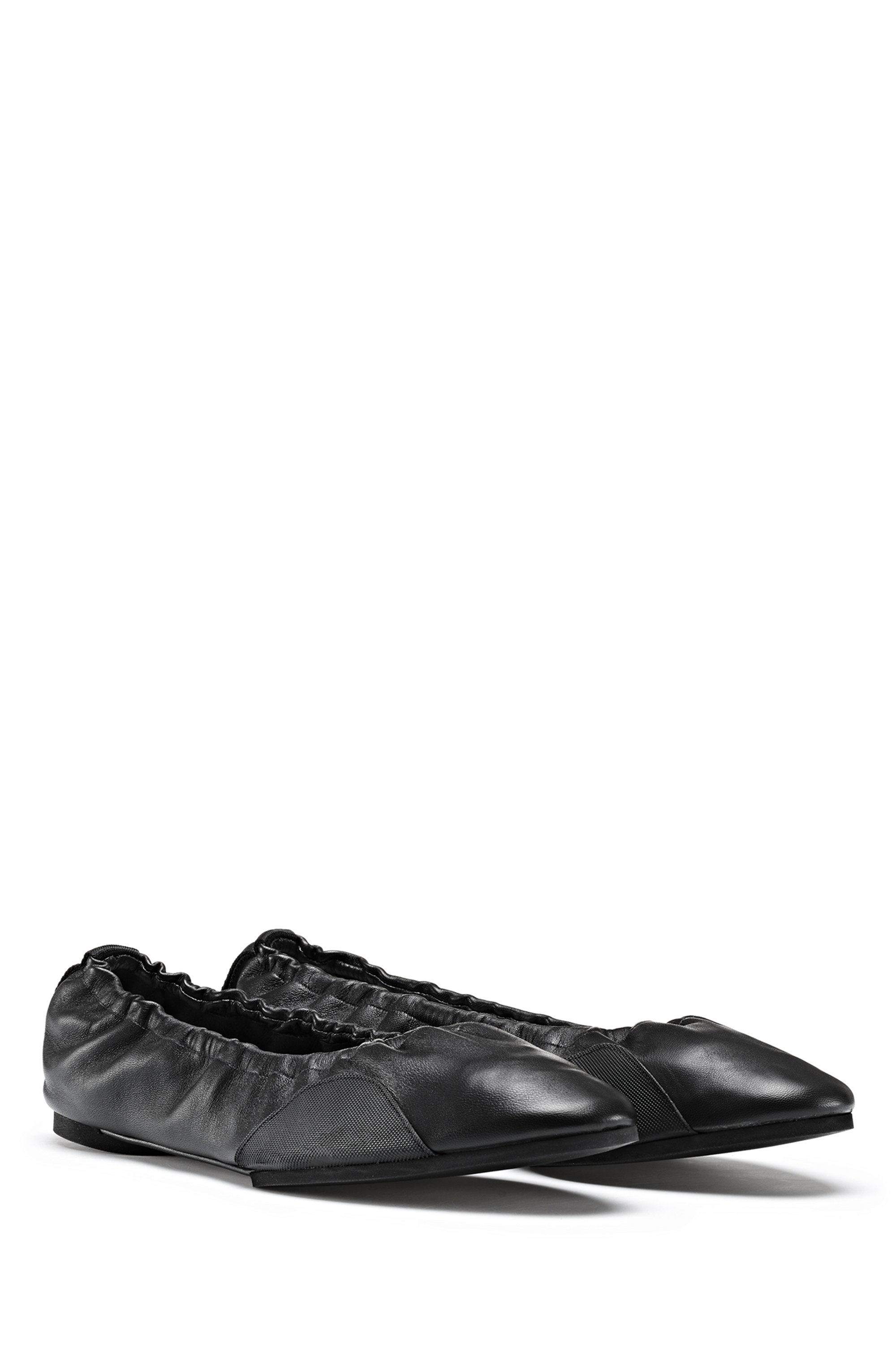 Ballerina pumps in nappa leather with flexible sole