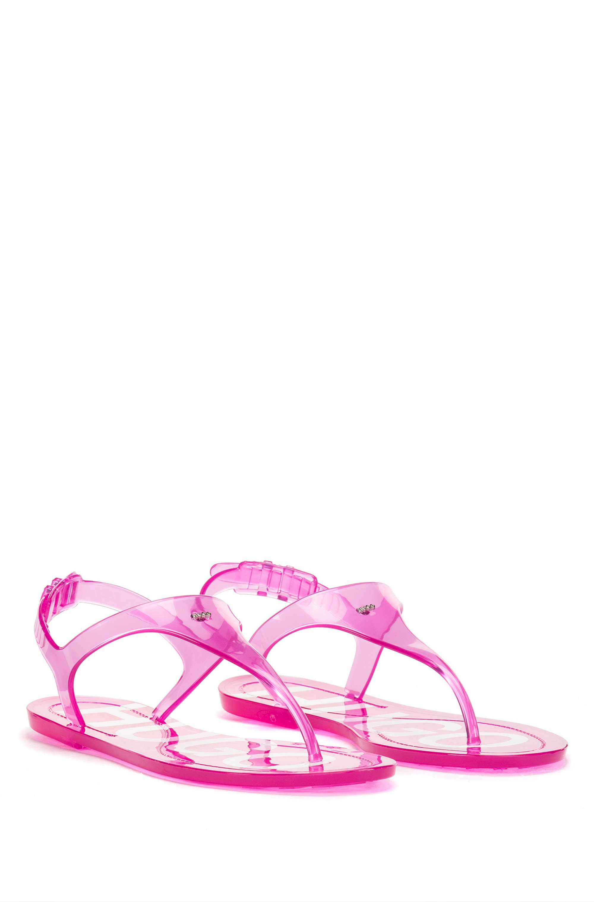 Italian-made sandals in transparent PVC with logo details