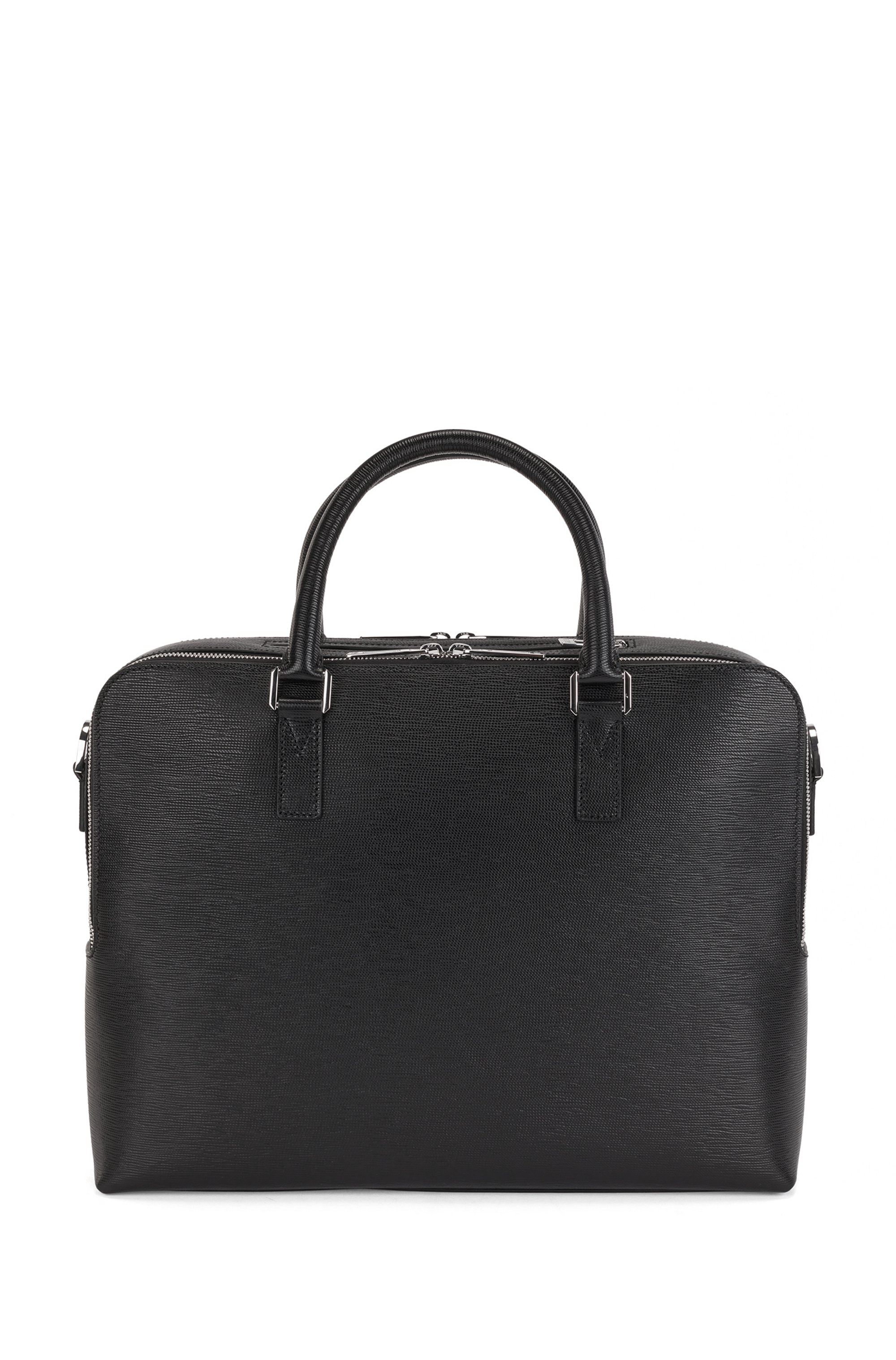 Italian-made calf-leather document case with smart sleeve
