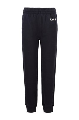 Logo tracksuit bottoms in organic cotton, Dark Blue