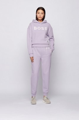 Logo tracksuit bottoms in organic cotton, Light Purple