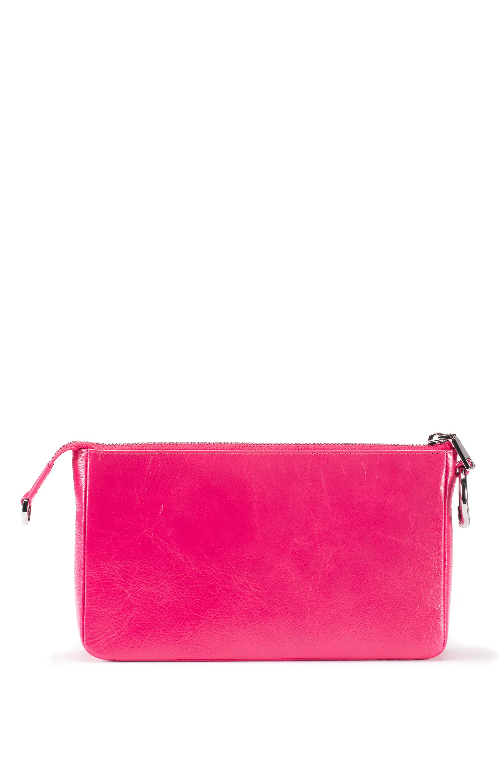 Mini bag in lustrous leather with detachable chain strap