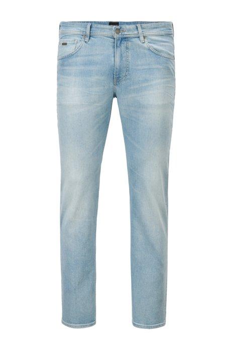 Regular-fit jeans in comfort-stretch denim, Light Blue