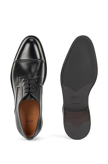 意大利制造亮面德比鞋,  001_Black