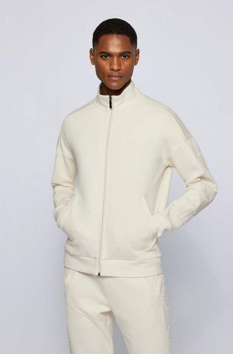Sweat Regular Fit à logo circulaire, Blanc