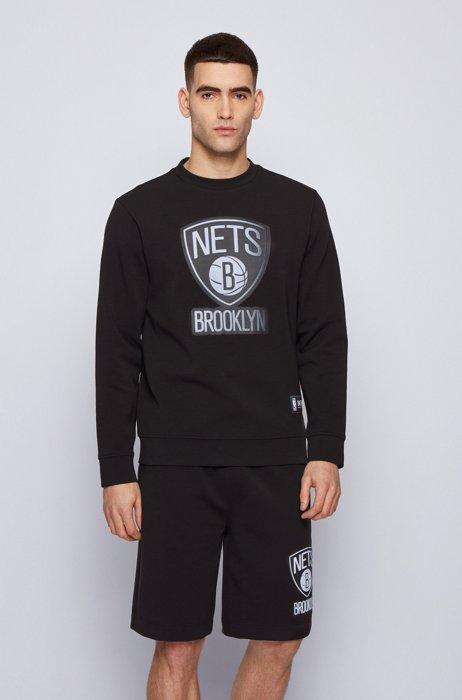 BOSS x NBA sweatshirt with team logo, Black