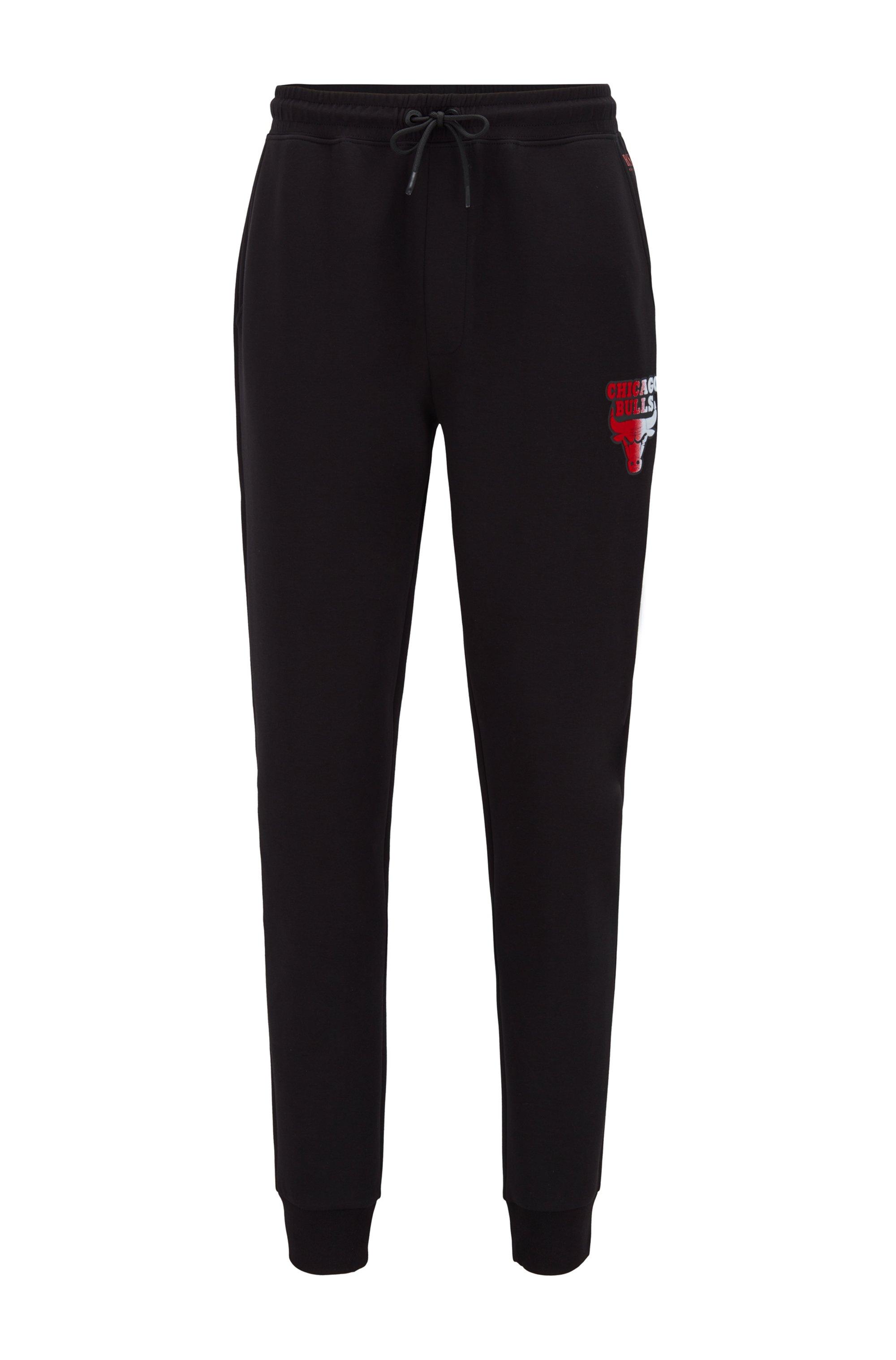 BOSS x NBA tracksuit bottoms with team logo, Black