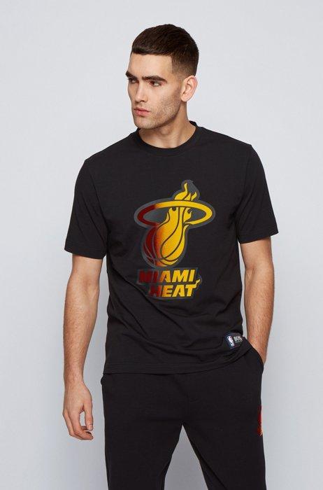 T-shirt BOSS x NBA avec logo d'équipe, Noir