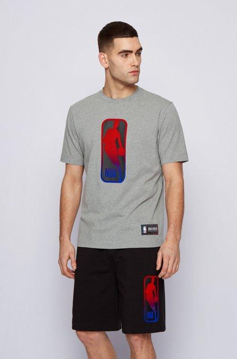 BOSS x NBA T-shirt with team logo, Grey