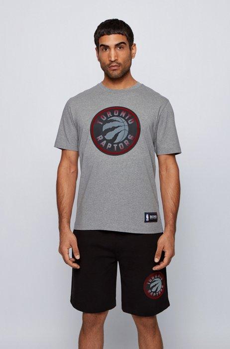 T-shirt BOSS x NBA avec logo d'équipe, Argent